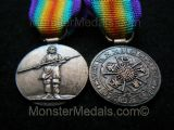 MINIATURE WW1 INTER ALLIED VICTORY MEDAL JAPANESE (JAPAN)